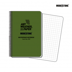 Modestone NOTEBOOK Military Vert 210 x 148mm A5 - ENG