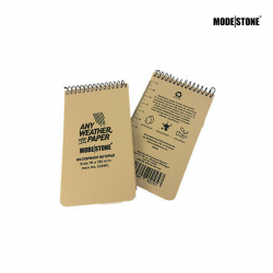 MODESTONE NOTEPAD Military Tan 76 x 130mm