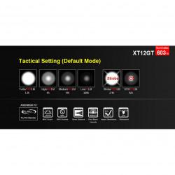 Lampe Tactique Rechargeable XT12GT LED - 1600 Lumens