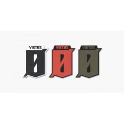 Autocollant vitrine VIKTOS Logo 3 inch (8 cm – Pack de 3)
