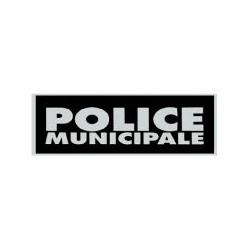 - Bandeau POLICE MUNICIPALE Rétro-réfléchissant inversé