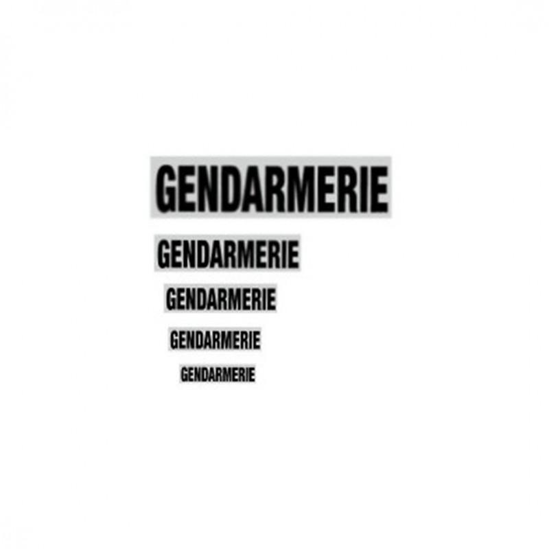 - Bandeau  GENDARMERIE Rétro-Réfléchissant