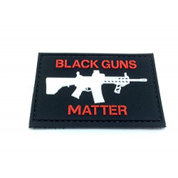 - Patch PVC Black Guns Matter Rouge