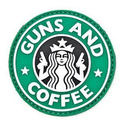 - Patch Rond Guns and Coffe
