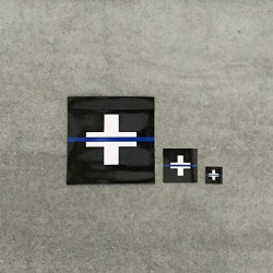 "Autocollant ""The Thin Blue Line Switzerland"""