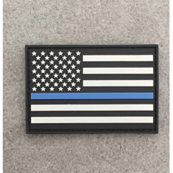 "Badge ""The Thin Blue Line USA"""