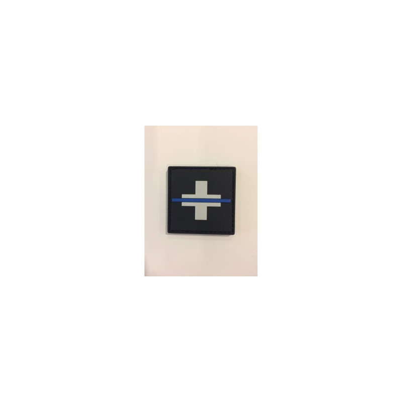 "Badge original ""The Thin Blue Line Switzerland"""
