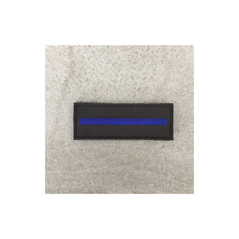 "Badge original brodé ""The Thin Blue Line"""