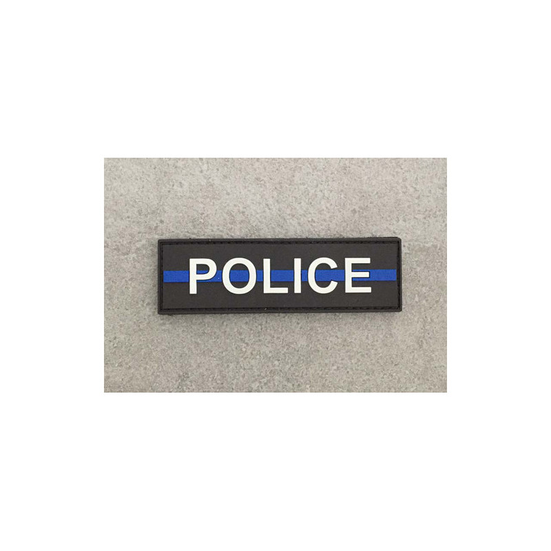 "Badge POLICE ""The Thin Blue Line"""