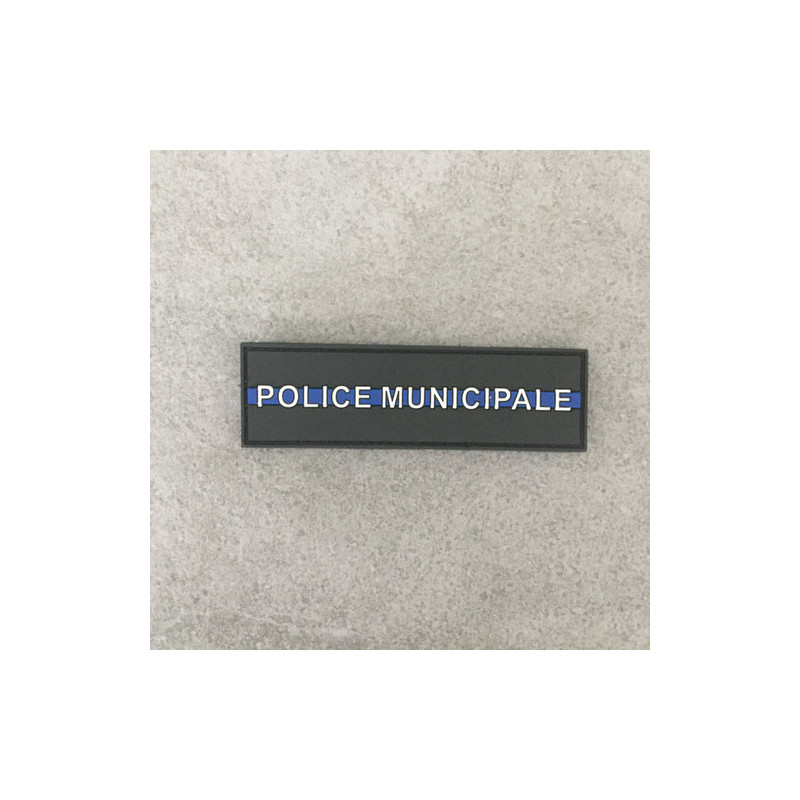 "Badge POLICE MUNICIPALE ""The Thin Blue Line"""