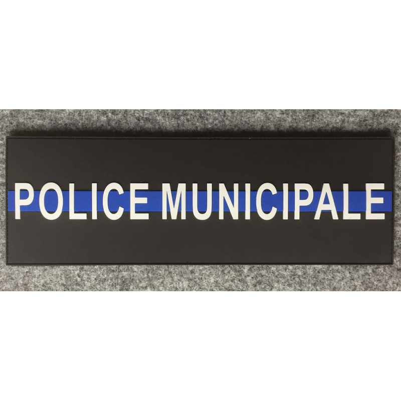 Bande Dorsale POLICE MUNICIPALE Thin Blue Line