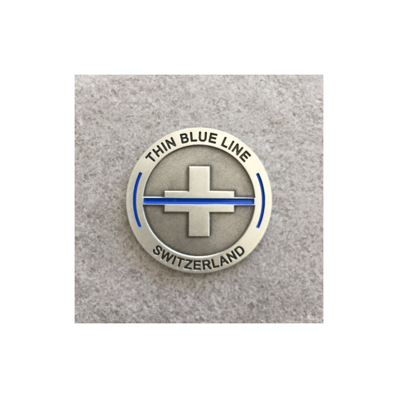 "Coin ""The Thin Blue Line Switzerland"""