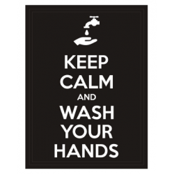 Patch COVID-19 Keep Calm - Wash your hands Noir