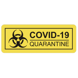 Patch COVID-19 Quarantaine Jaune