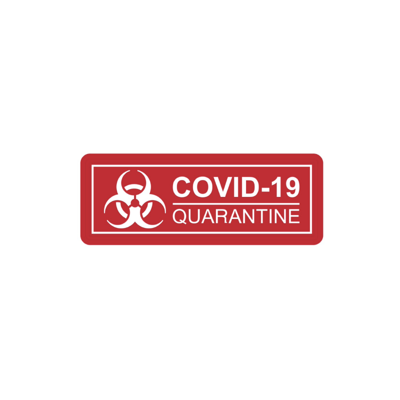 Patch COVID-19 Quarantaine rouge