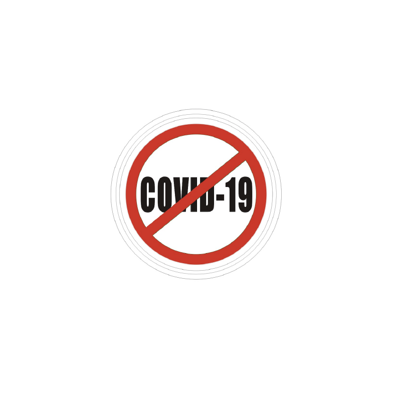 Patch STOP COVID-19 blanc